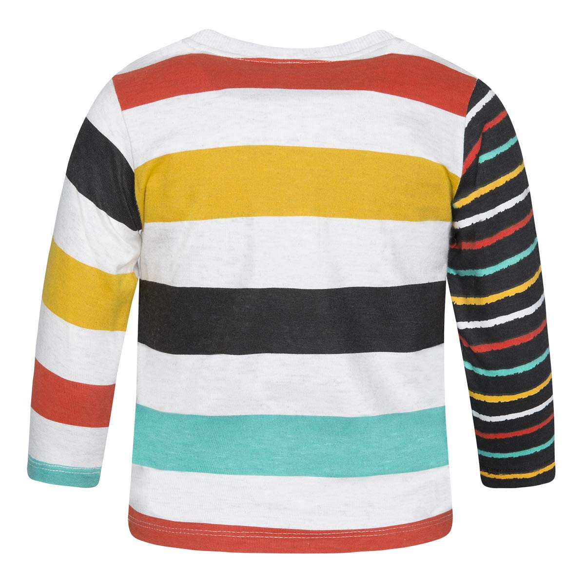 White Jersey T-Shirt Striped PAINTFOR BOY Chalk Painting
