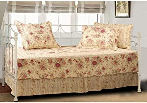 Greenland Home Antique Rose Quilted Daybed Set