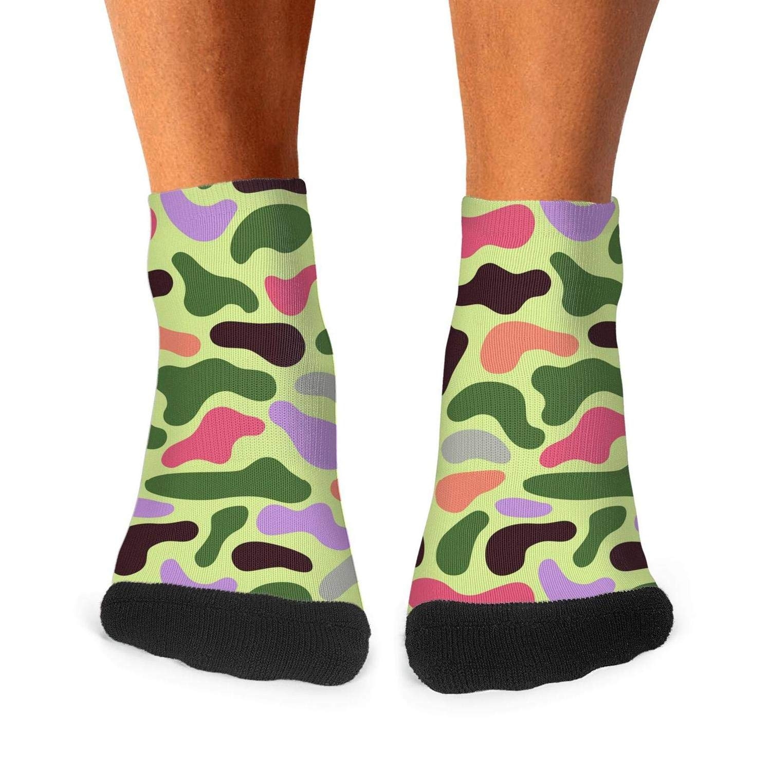 Floowyerion Mens colorful camo Novelty Sports Socks Crazy Funny Crew Tube Socks