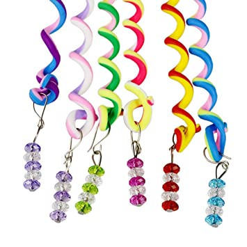 ThEast 12PCS Girls Hair Styling Twister Clip Women Hair Braider DIY Tool Accessories (B)