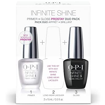OPI Infinite Shine - Prime Base + Gloss Top Coat Duo, Nail Lacquer: Amazon.es
