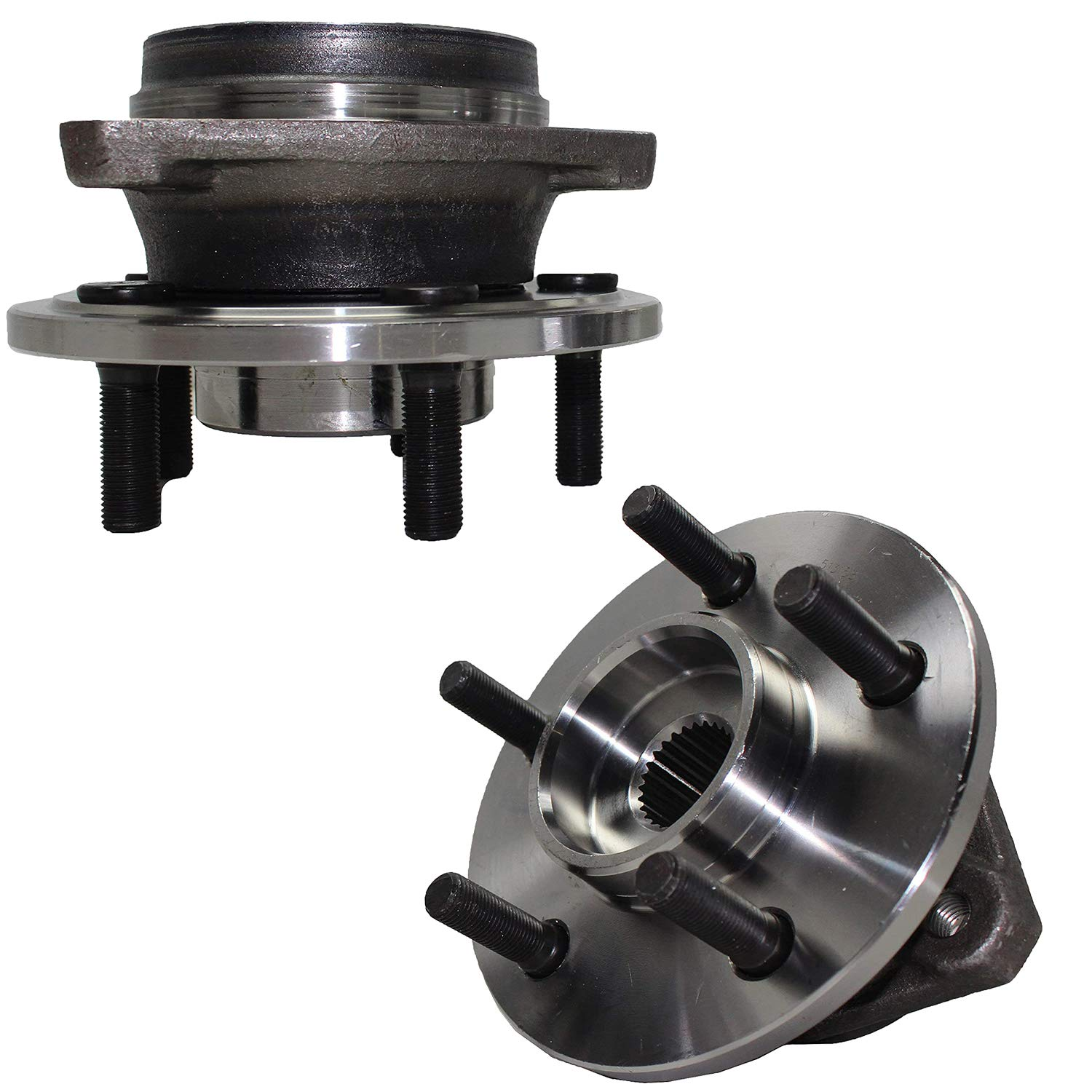 Detroit Axle - Front Wheel Hub and Bearing Assembly Replacement For Jeep Wrangler TJ Cherokee - 2pc Set