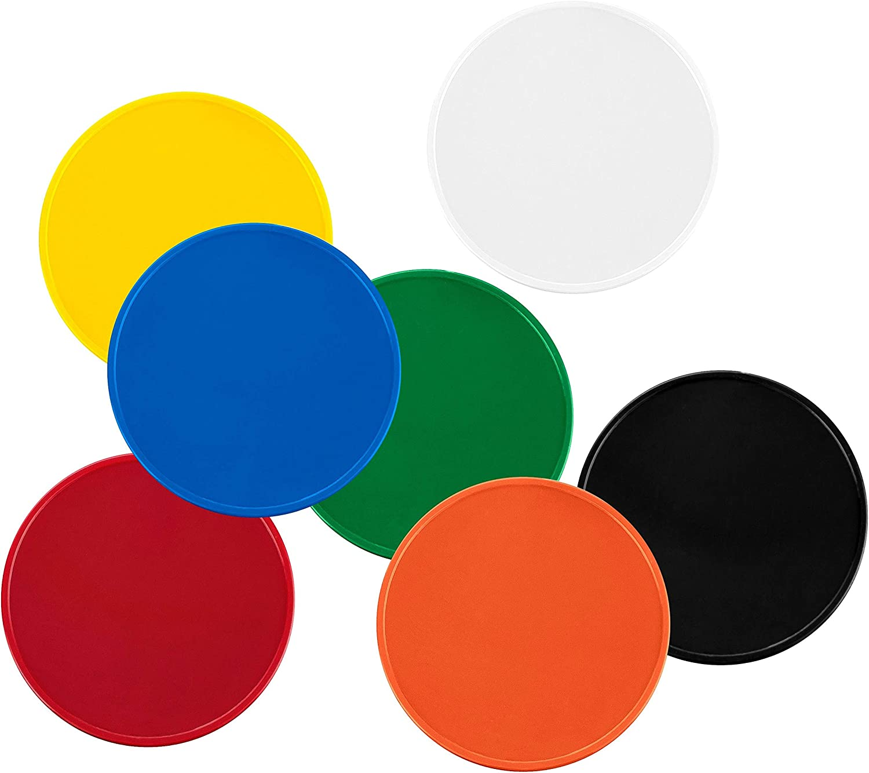 Chip da 1/Euro per carrello per la spesa in 7/colori utilizzabili anche come monete da gioco 100 Pezzi arancio puro