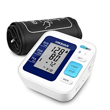 HIKEVAN Blood Pressure Monitor Upper Arm Bp Monitor with Talking & Mute Design,Wide Range