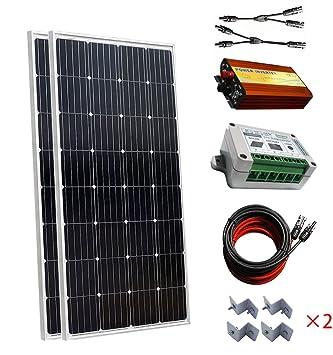 300 W 12 V Off-Gird PV sistema / 2 piezas 150 W paneles solares
