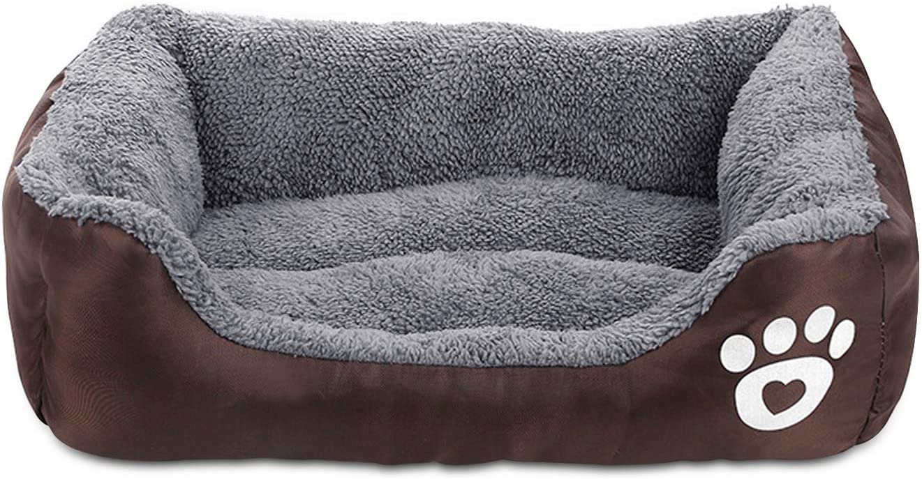 Pet Deluxe Dog Bed, Super Soft Pet Sofa Cats Bed, Non Slip Bottom Pet Lounger,Self Warming and Breathable Pet Bed Premium Bedding