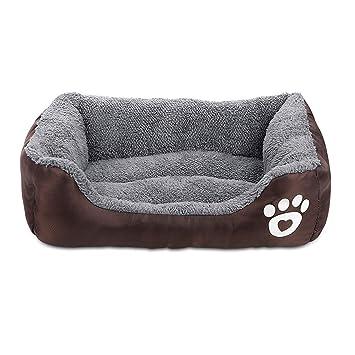 Amazon.com: Cama de lujo para mascotas con acolchado ...