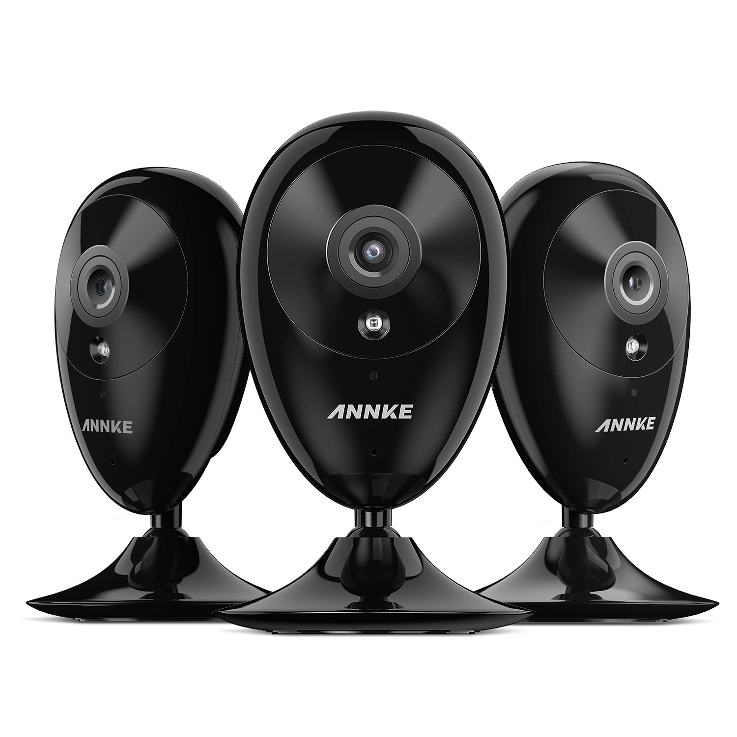 ANNKE 3-Pack Min IP Camra, Nova S 1080p HD Wi-Fi Home Video Monitoring Security Camera, Works with Alex, Cloud Service Available