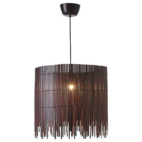Ikea rotvik - Lámpara de Techo en Color marrón; de bambú ...
