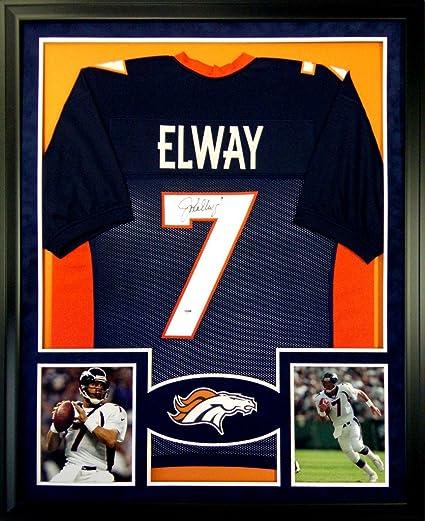 new arrival 27344 5cff9 John Elway Denver Broncos Autograph Signed Custom Framed ...