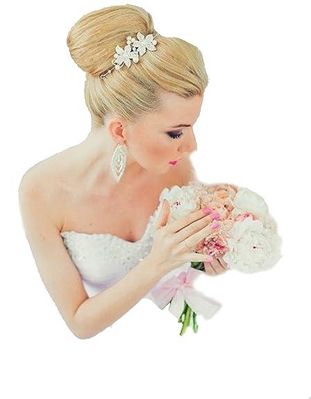 Diadema tiara flores perlas pedrería novia accesorios para el pelo flores flores novia boda