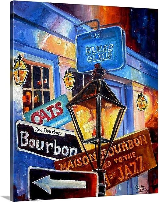 Amazon Com Signs Of Bourbon Street Canvas Wall Art Print 24 X30 X1 25 Posters Prints