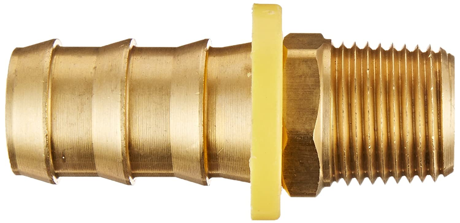 3//8 Barb x 1//2 Male Pipe 3//8 Barb x 1//2 Male Pipe 07201-0608 Anderson Metals Brass Push-On Hose Fitting Connector