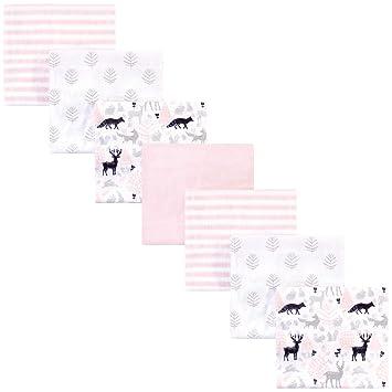 Hudson Receiving Blankets Pink Baby Flannel 4 Pack Girls 30 X 36 Nursery New