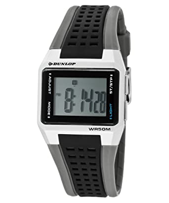 cd3c21a68 Image Unavailable. Image not available for. Color: Dunlop Women's Jade  Digital Multi-Function Black & Gray Rubber