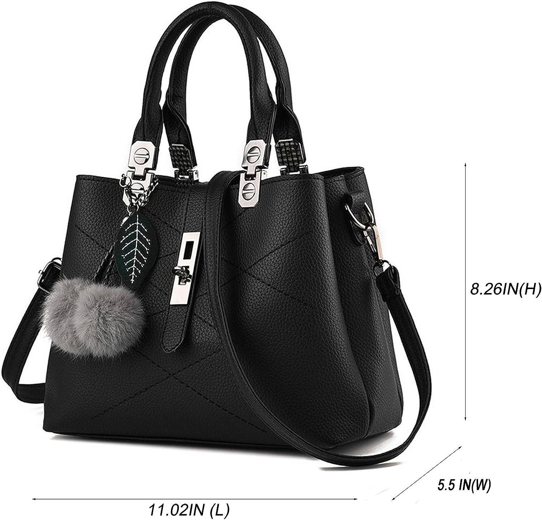 Amazon.com: Mn&Sue Women Top Handle Satchel Leather Handbag Shoulder Bag  Lady Tote Purse with Strap: Shoes