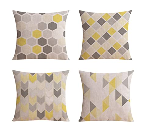YUMU CASA 4 fundas de almohada estilo nórdico geométrico ...