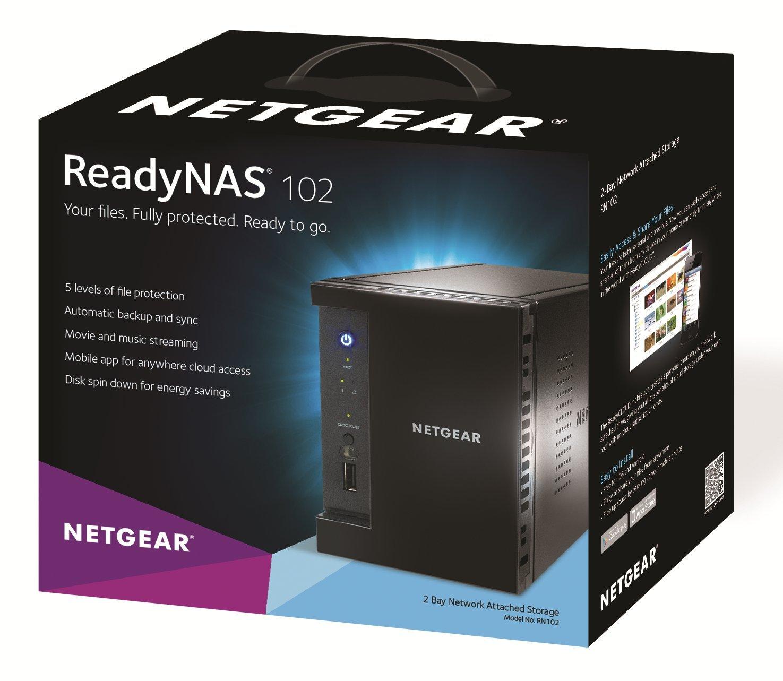 NETGEAR ReadyNAS 102 2-Bay Network Attached Storage Diskless (RN10200-100NAS) by NETGEAR