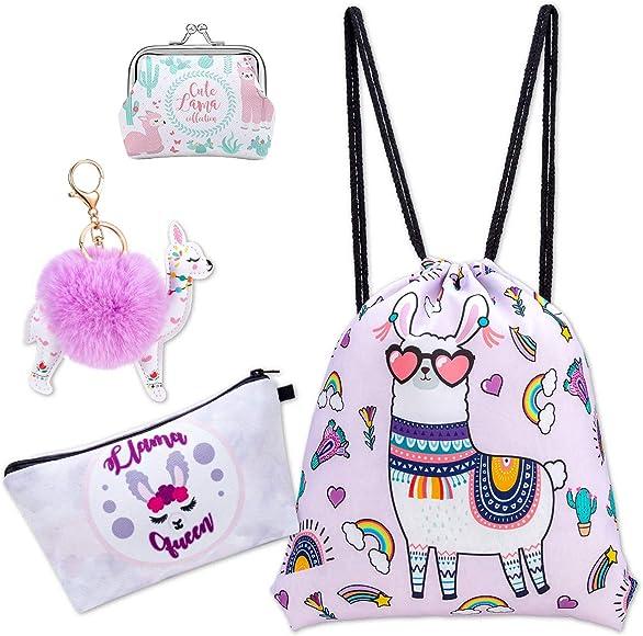 Drawstring Backpack Sheep Pattern Gym Bag