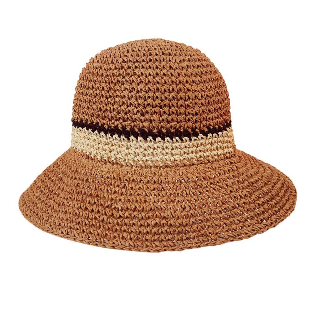 f7507a259 Summer Beach Sun Hats,Quaanti Hot Sale! Women Lady Beach Medium Brim Summer  Foldable Travel Sun Straw Hat Straw Hat Best 2019 🔥Clearance Sale (Coffee)