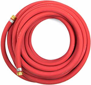 Continental 5/8-inch x 50-feet All-Weather Rubber Water Garden Hose, Made in USA