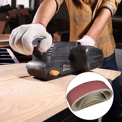 3 de 80//120//150//240//400 Granos surtidos para lijadora de banda y amoladora paquete de 15 75x 533 mm 75 X 533 mm Bandas de lijado de /óxido de aluminio