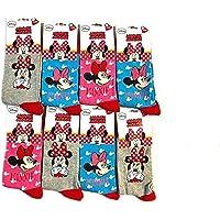 Paquete de 6 Calcetines Disney MINNIE MOUSE, Adorables y Cómodos, Ricos en Algodón para niñas