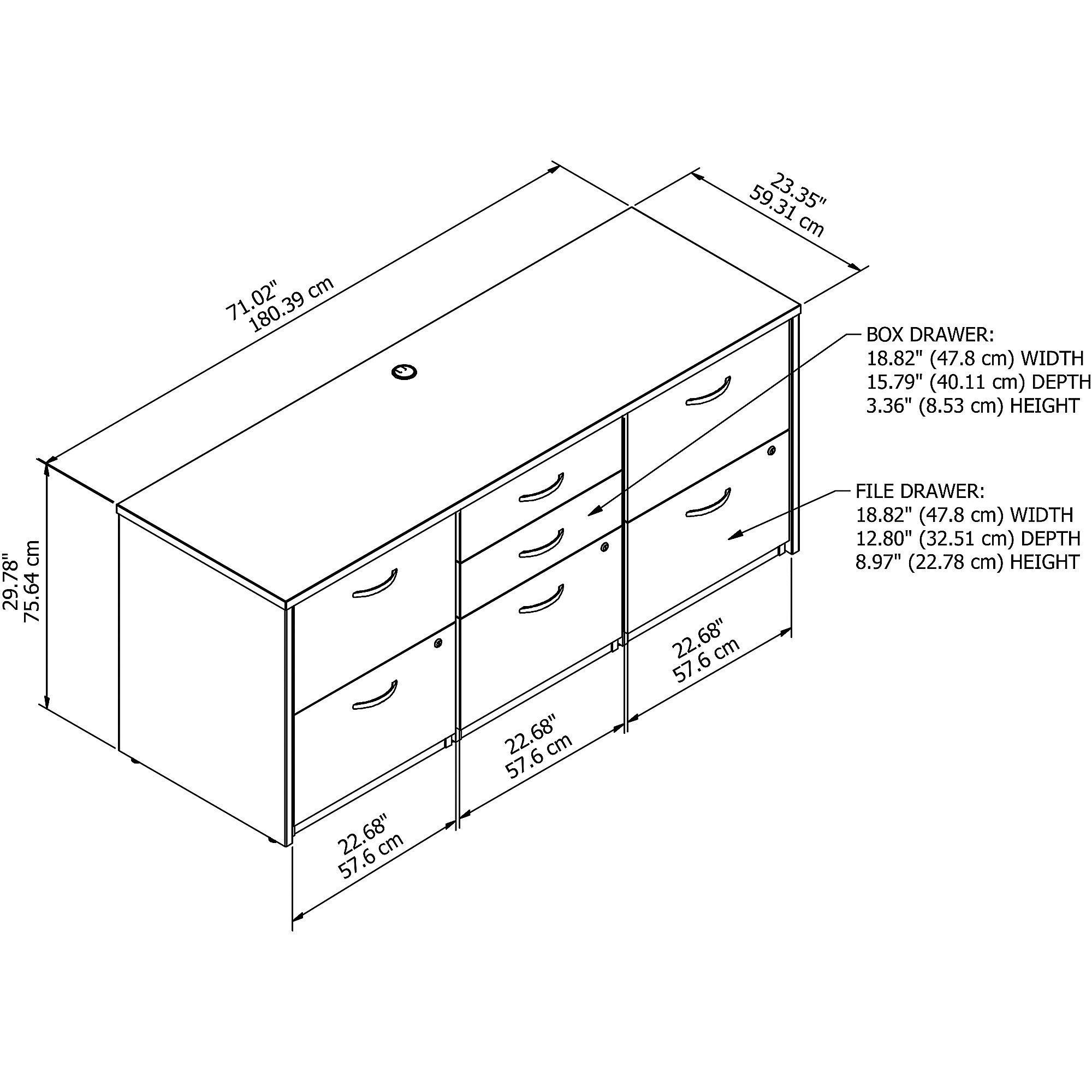 Bush Business Furniture Series C Elite Storage Credenza, Hansen Cherry by Bush Business Furniture (Image #6)