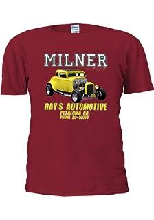 best Milner/'s /'32 Deuce Coupe American Graffiti Hot Rod MEN/'S t-shirt black