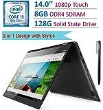 Lenovo Flex 5 14-inch Touch FHD 1920x1080 2-in-1 Laptop PC, 8th Gen Intel Quad Core i5-8250U, 8GB DDR4 RAM, 128GB SSD, Backlit keyboard, HDMI, Bluetooth, WiFi, Lenovo Active Pen, Windows 10
