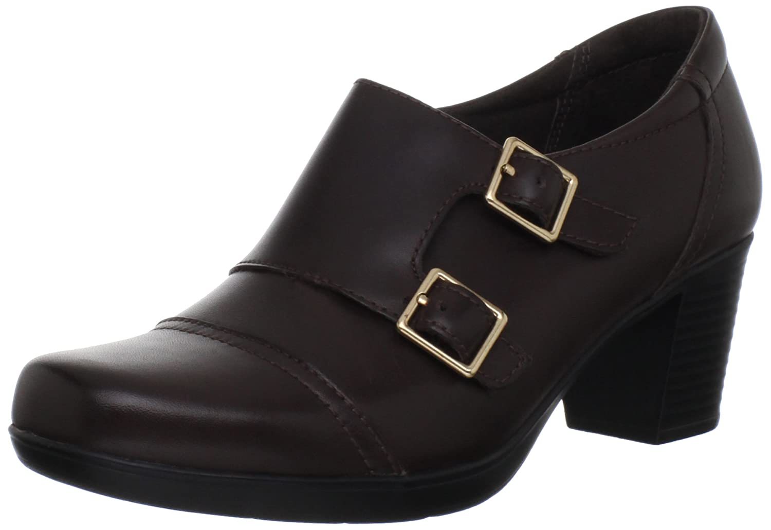 Clarks Women's Scheme Onyx Brown Leather Bendable Ankle Boot