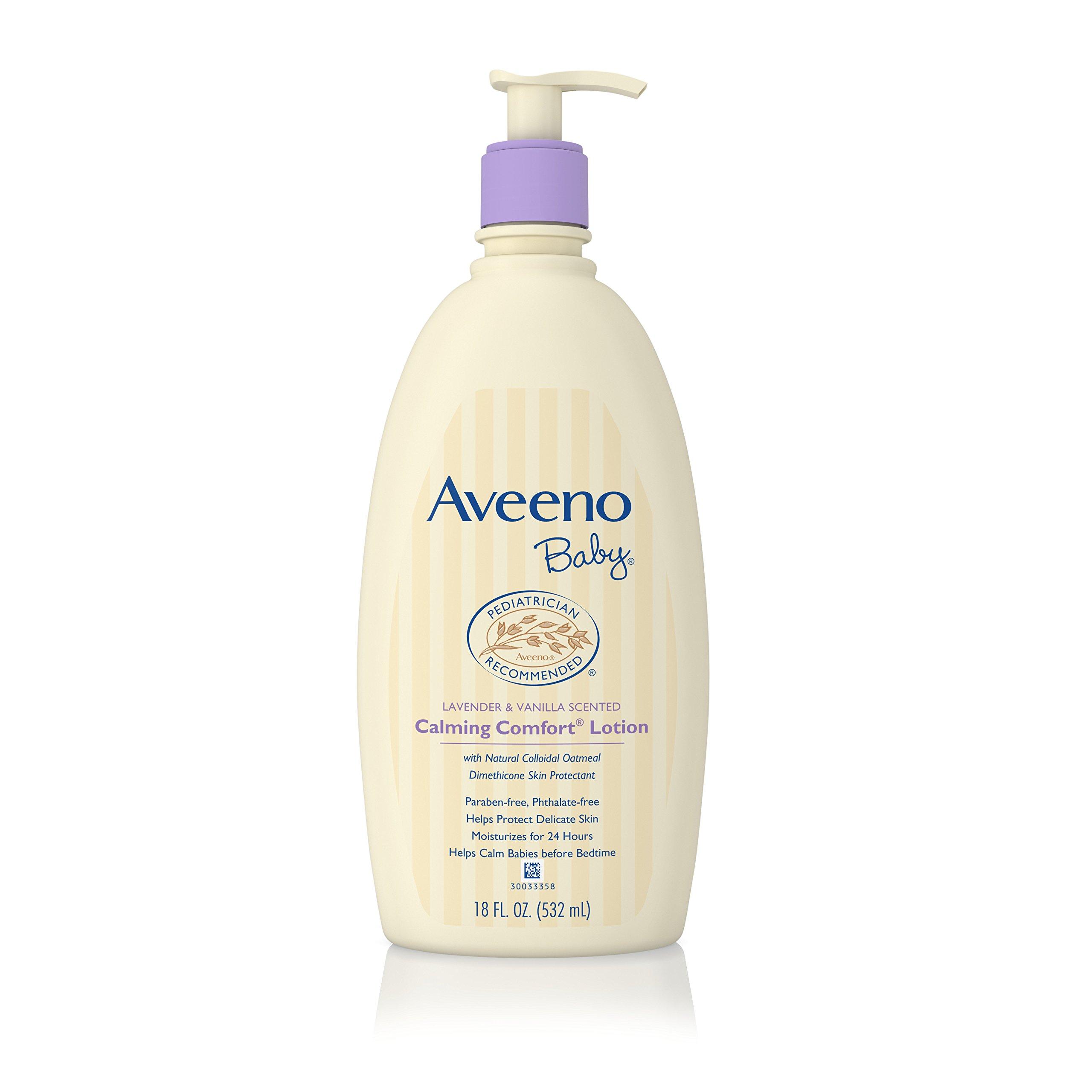 Aveeno Baby Calming Comfort Moisturizing Lotion, Lavender & Vanilla, 18 Oz.