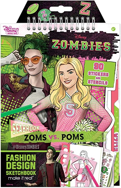 Amazon.com: Make It Real - Disney Zombies Fashion Design Sketchbook. Disney  Inspired Fashion Design Coloring Book For Girls. Includes Addison And Bree  Sketch Pages, Stencils, Stickers, And Design Guide: Toys & Games