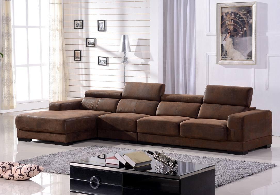 Mikrofasersofa Eckcouch Ecksofa Sofa Garnitur Couch Eckgruppe 2017-L-VF03