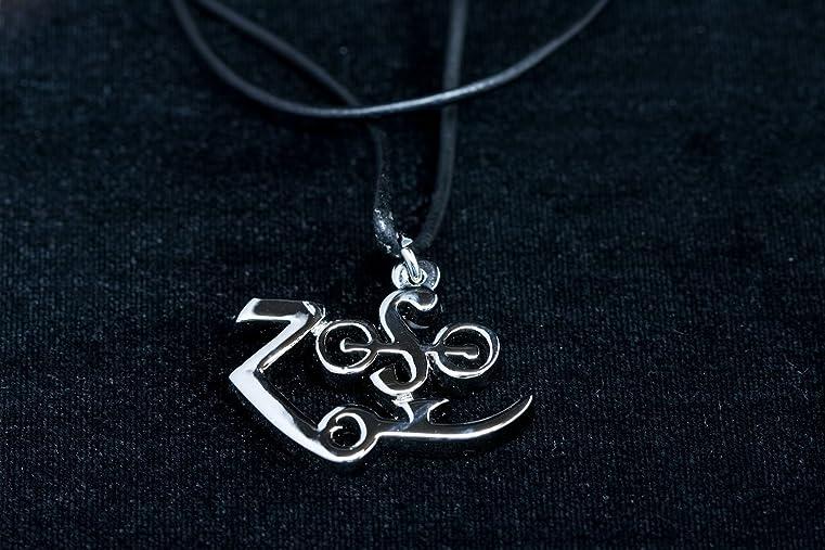 Amazon Led Zeppelin Jimmy Page Zoso Symbol Pendant Jewelry