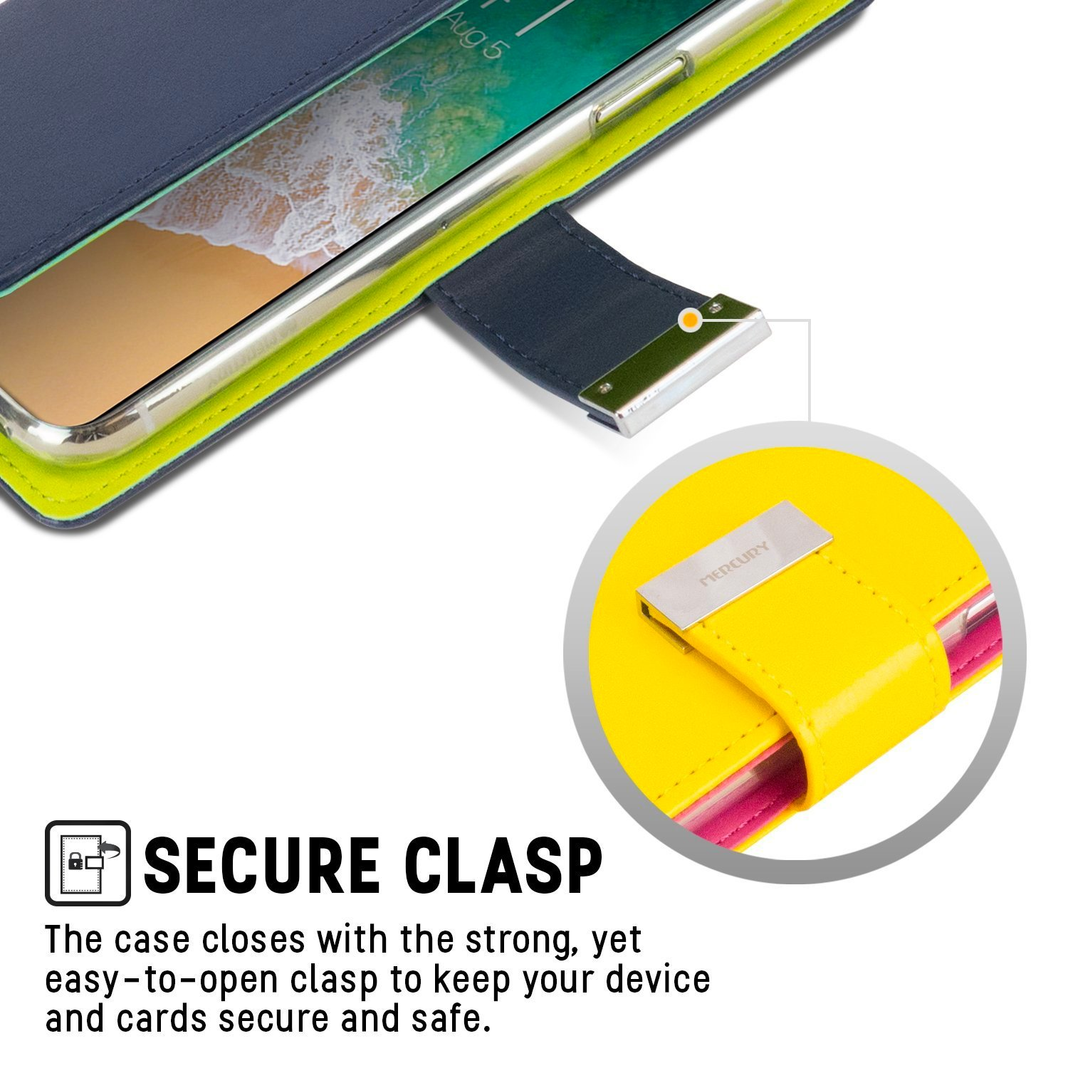 Iphone 8 Case 7 Goospery Rich Diary Wallet Stand Slot Fancy Navy Lime Card Cover For Flip Cases