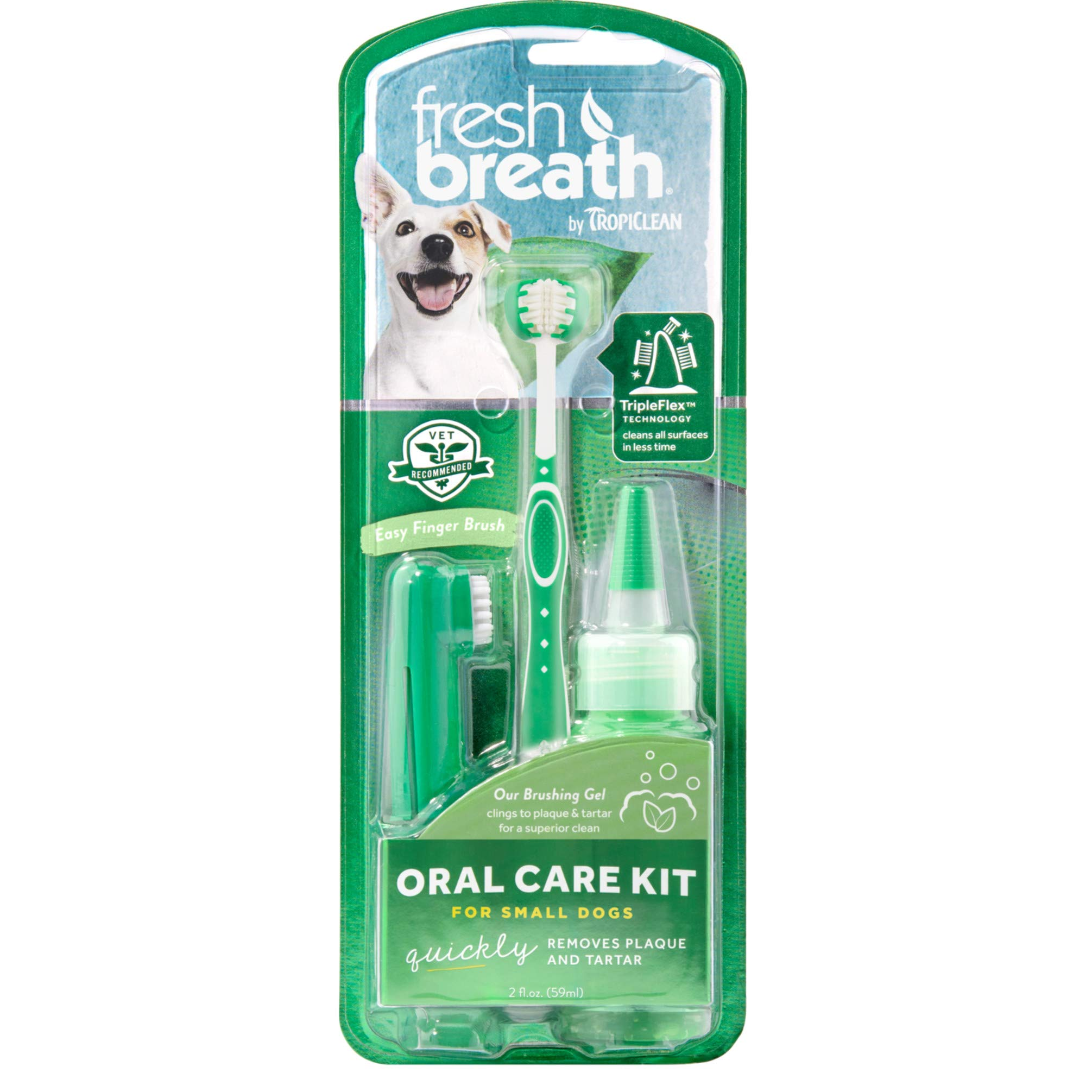 Fresh Breath by TropiClean Oral Care Kit for Pets, Small, Made in USA by TropiClean
