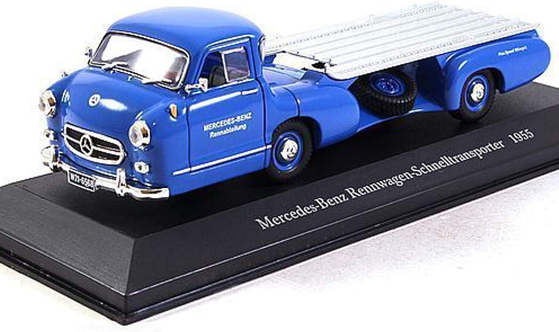 Mercedes-benz renntransporter el milagro azul 1955 1:18 iscale DIECAST