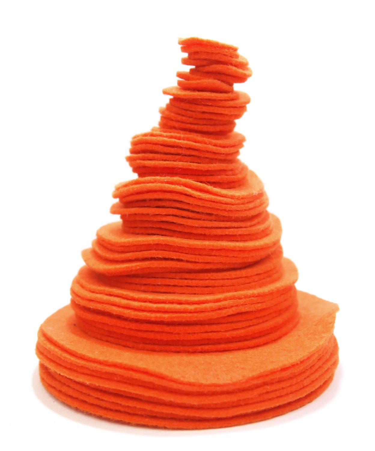 Playfully Ever After Orange 3/4 to 4 Inch Assorted Sizes 56pc Felt Circles