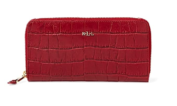 Wählen Sie für neueste Designermode Großhandelspreis LAUREN RALPH LAUREN Women's Embossed Newbury Zip Leather ...