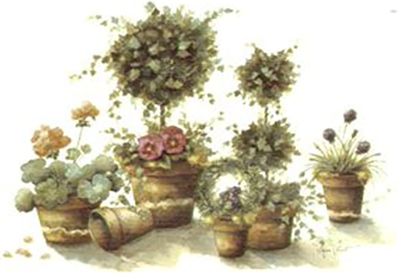 "6 Rose Bouquet 2/"" X 1/""  Waterslide Ceramic Decals Bx"