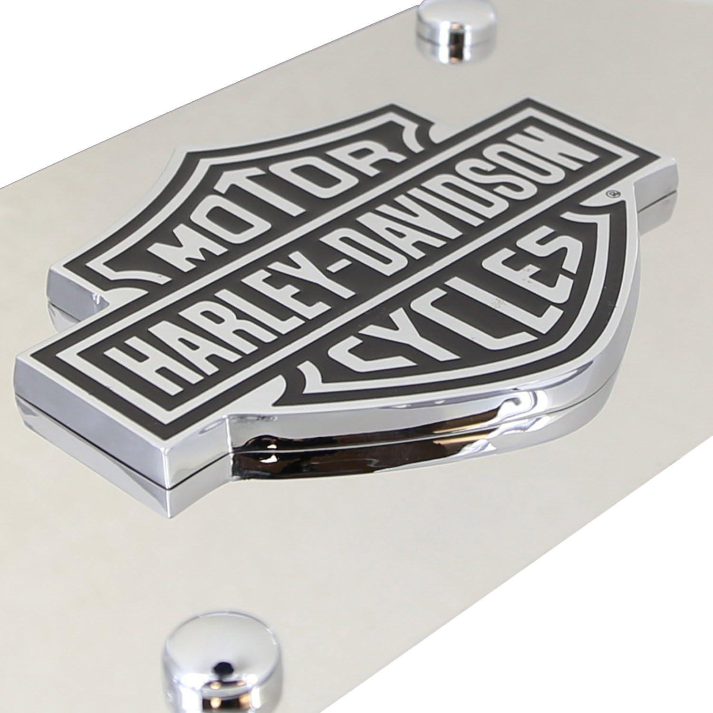 Harley-Davidson Decorative Vanity Front License Plate with Bar Sheild 3D Emblem
