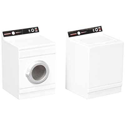 Handley House Dollhouse Miniature Washer & Dryer in Painted Wood: Toys & Games