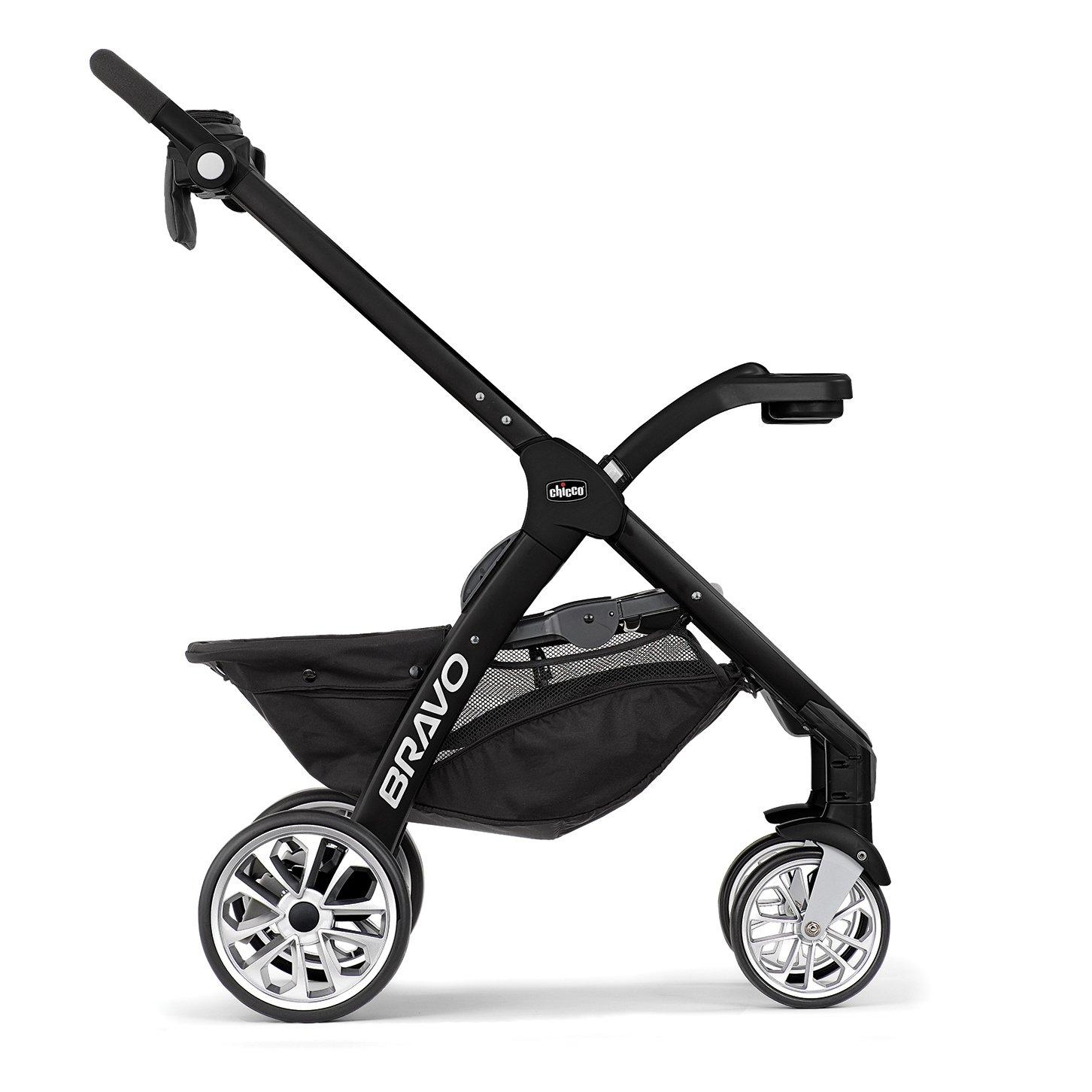 amazon com chicco bravo le stroller black grey baby