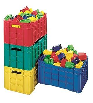 Italveneta Didattica 010, Caja para Juguetes, apilable, Colores Variados: Rojo, Verde, Amarillo, Azul, 1 Unidad: Amazon.es: Juguetes y juegos