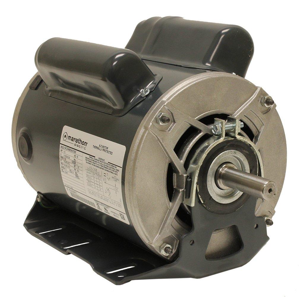 Marathon C1160 Fan and Blower Motor, Single Phase Capacitor Start, 1 1/2 hp, 1725 rpm, 115/208-230V, 16.4/8.4-8.2 amp