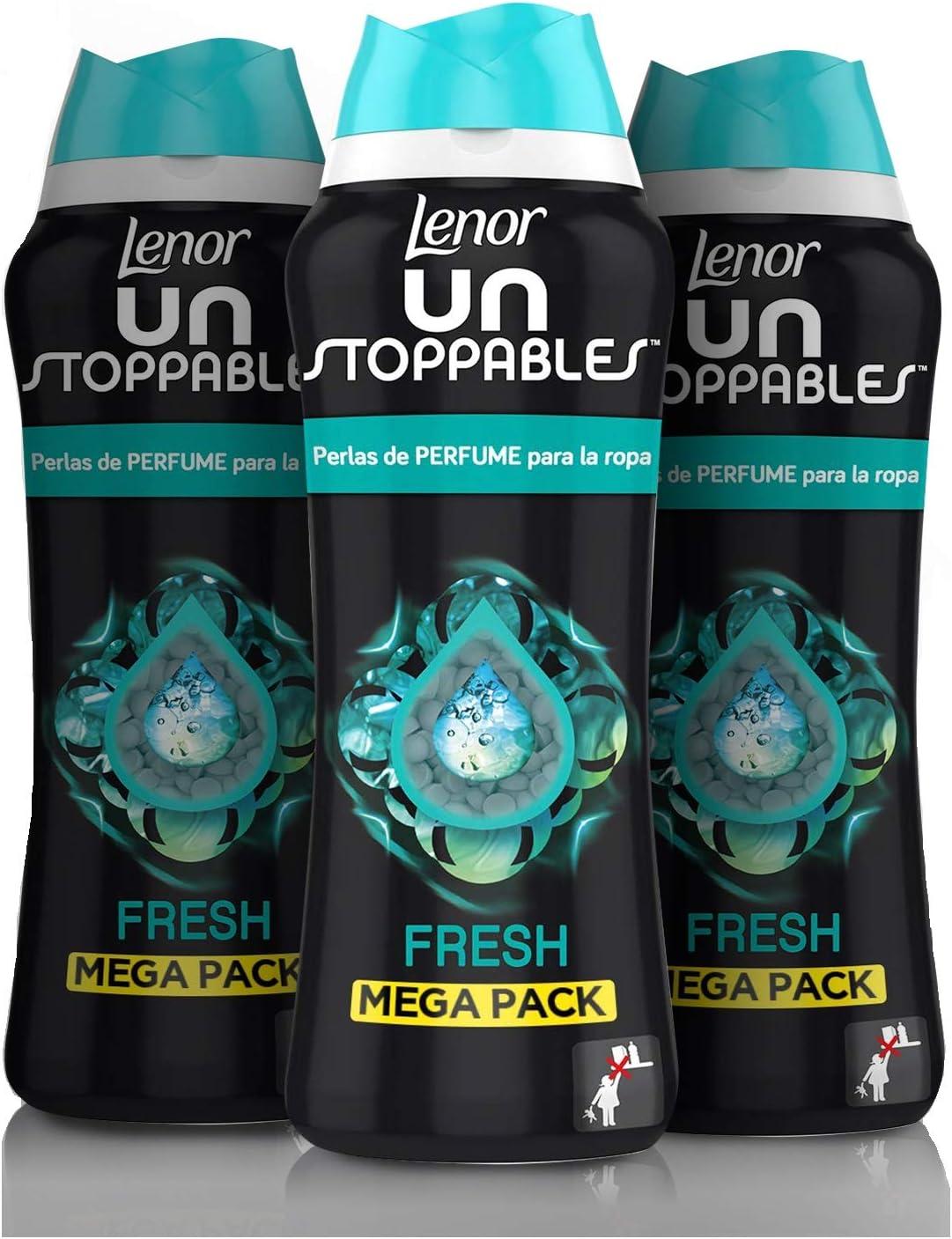 Lenor UNstoppables Fresh Perlas de Perfume para la ropa, 510 g, Pack x3