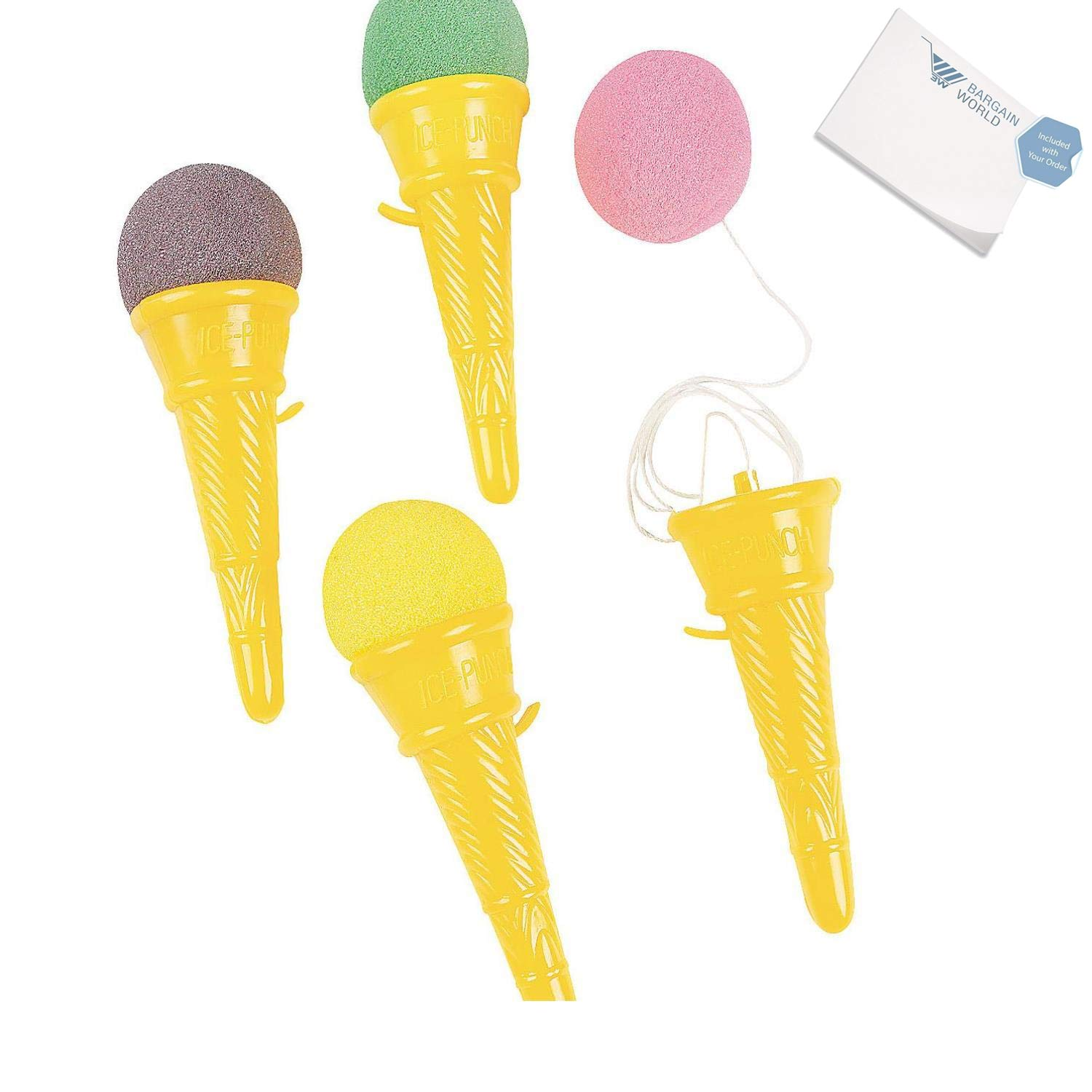 Bargain World Plastic Ice Cream Cone Shooters (With Sticky Notes)