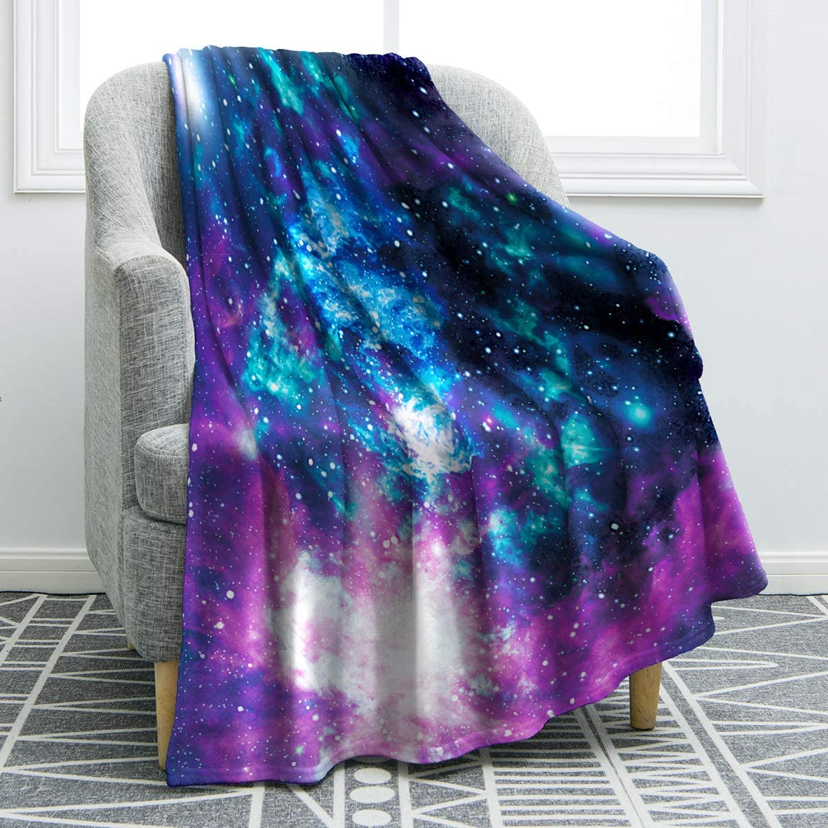 """Jekeno Star Galaxy Blanket Soft Comfortable Blanket for Sofa Chair Bed Office 50""""x60"""""""