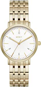 DKNY Women's Quartz Stainless Steel Casual Watch, Color:Gold-Toned (Model: NY2503)